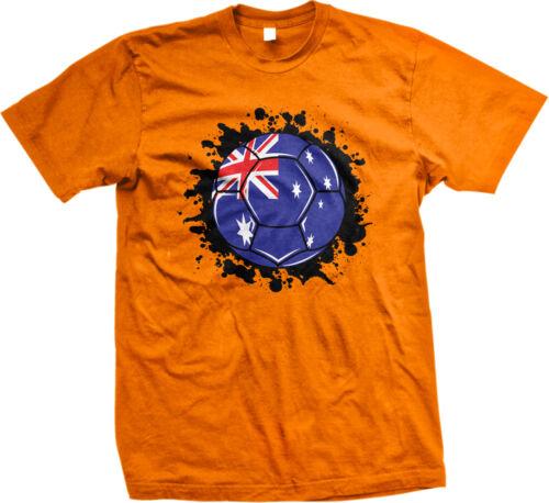 Australia Flag Soccer Ball Aussie Pride Socceroos Union Jack Mens T-shirt
