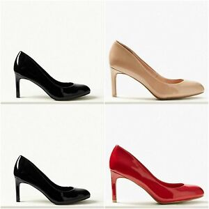 4458929d67a Women's Ex MNS Wide Fit Stiletto Heel Almond Toe Court Shoes Caramel ...