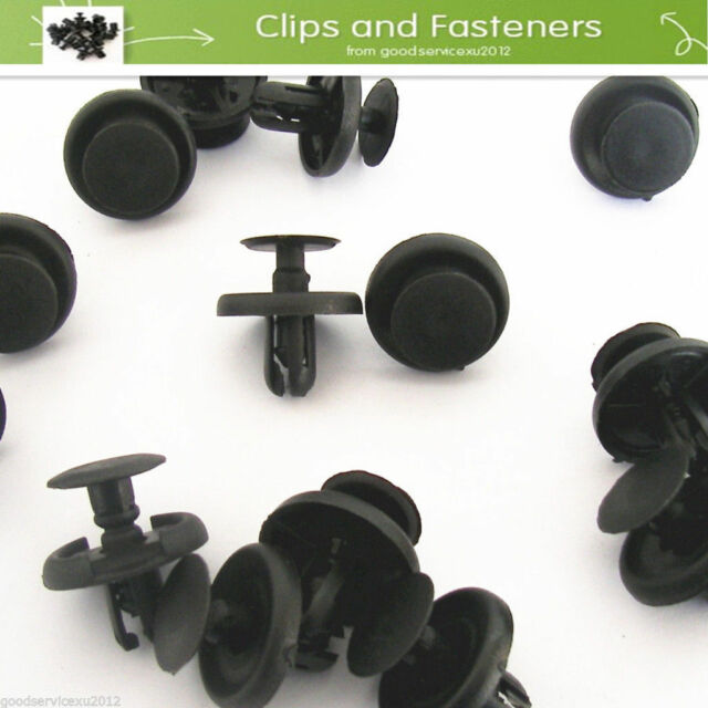 10 Pcs Lexus & Toyota Plastic Clips for Engine Bay Covers & Shields (7mm Hole)