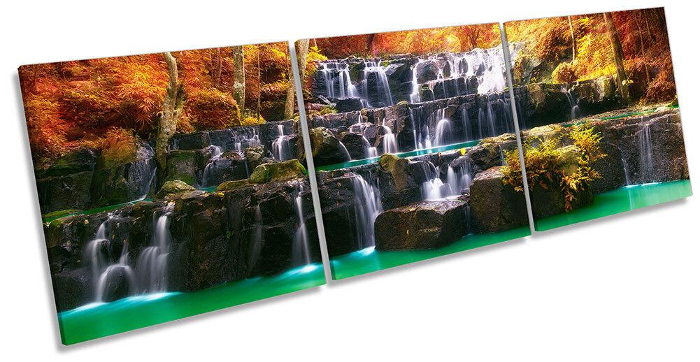 Puesta De Sol Naranja Impresión Bosque Naturaleza Foto Lona Pa rojo  Arte Impresión Naranja Triple dc54f4