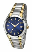 Accurist Gents Blue Dial Stainless Steel Bracelet Watch 7109 Rrp £90