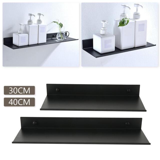 timeless design dca33 0e150 Space aluminum Black Bathroom Shelves Kitchen Wall Shelf Shower Gel Storage  Rack