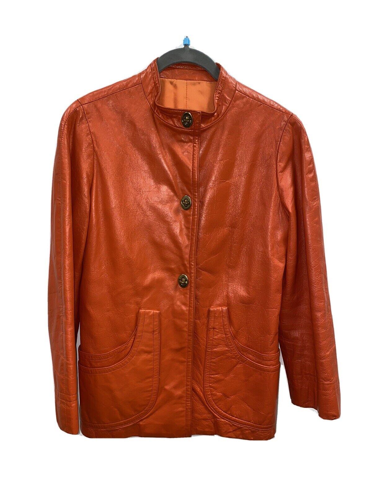 Bonnie Cashin Sills Orange Leather 1960s Mod Wais… - image 1
