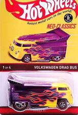 Hot Wheels RLC Neo-Classics VW Drag Bus PURPLE Flames Redline Volkswagen