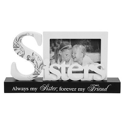 """Sisters Style Word Photo Frame with Verse 5x3"""" NEW   22725"""