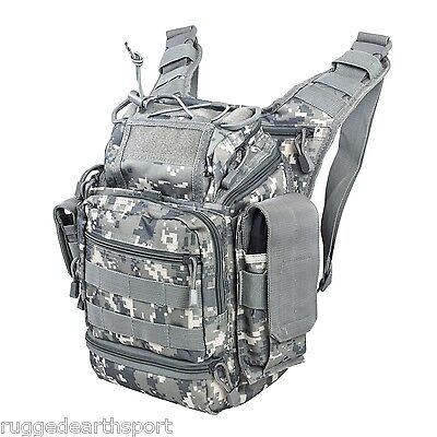 First Responder Tactical Shoulder Concealed Carry Gun Gear Bag DIGI ACU CAMO