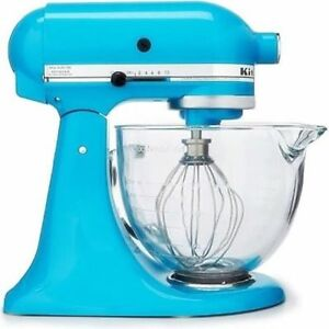 KitchenAid 5qt Tilt-Head Stand Mixer Glass Bowl - Crystal Blue