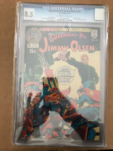 SUPERMAN'S PAL JIMMY OLSEN #135 CGC 8.5 (1971) 2nd DARKSEID JUSTICE LEAGUE DC