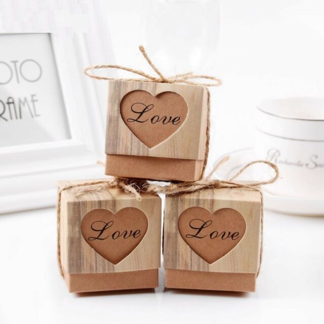 50pcs Heart Candy Box Vintage Wedding Gifts For Guests Decoration Wedding For Sale Online