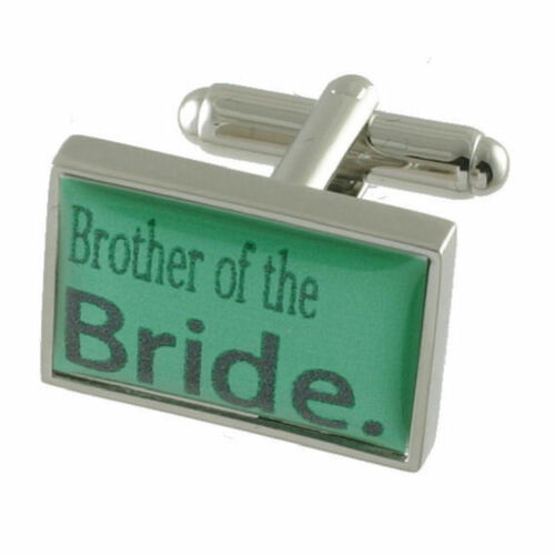 Brother Of Bride Mint Green Wedding Cufflinks Gift Boxed