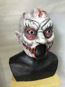 Zombie Clown Halloween Maschera Lattice Pagliaccio spaventoso essa tortuosa Orrore Fantasia Party maschere 							 							</span>