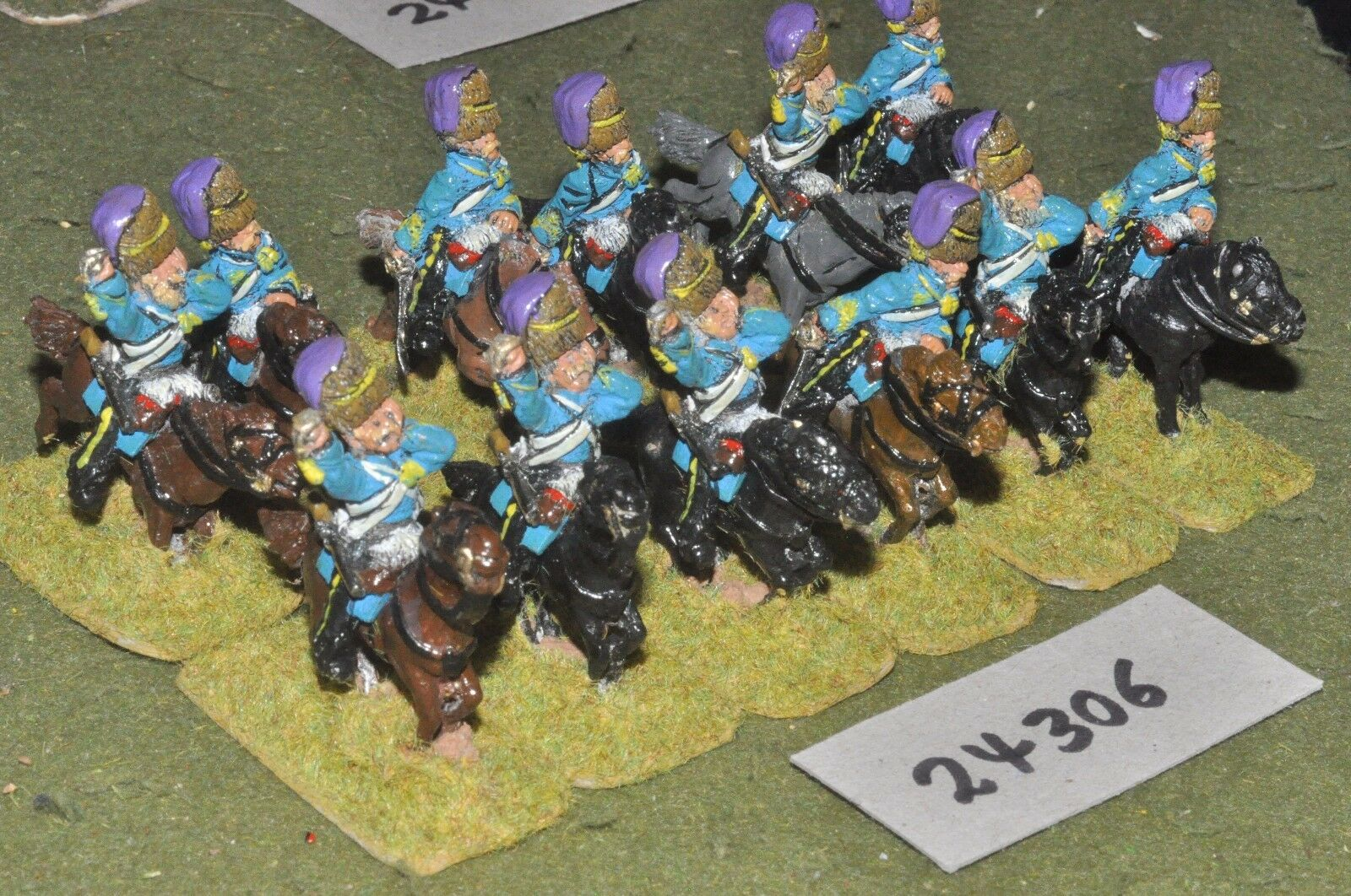 28mm 19th century   british - crimean hussars 12 figures - cav (24306)