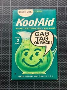 VINTAGE 1960's KOOL-AID FULL PACK Sealed Mip LEMON/LIME FLAVOR old stock GAG TAG