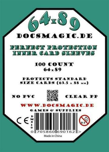 63,5 x 88 10 Pa 1.000 Docsmagic.de Perfect Protection Inner Card Sleeves Clear
