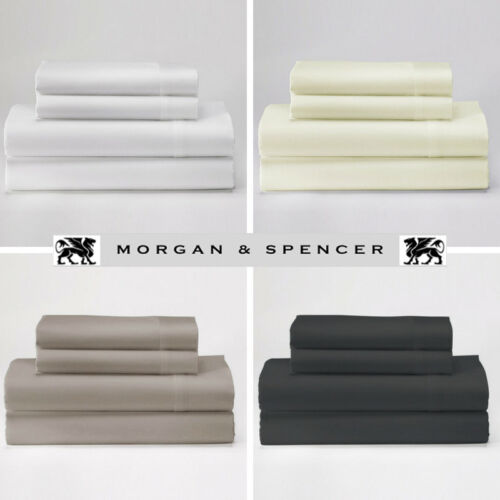 MORGAN AND SPENCER 1000TC THREAD COUNT COTTON RICH SUMMER WEIGHT SHEET RANGE
