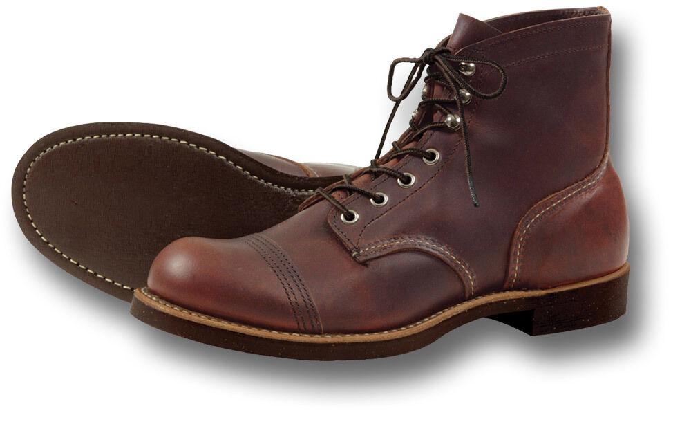 rojo Wing zapatos 8111 6  de hierro Ranger botas de trabajo, marrón