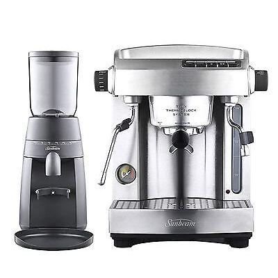 Sunbeam PU6910 Espresso Bar: Espresso Machine + Burr Grinder