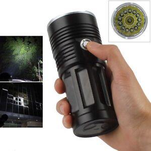 38000LM-14-x-CREE-XM-L-T6-LED-SKYRAY-Hunting-Torch-Lamp-4-x-18650-Flashlight-NEW