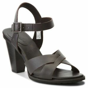 Deliberadamente Turista Alegre  Timberland A1PD9 Derby Heights Womens Leather High Heel Sandals Black Size  | eBay