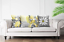 Emvency Set of 4 Throw Pillow Covers Gray and Yellow Modern Daisy with Pretty