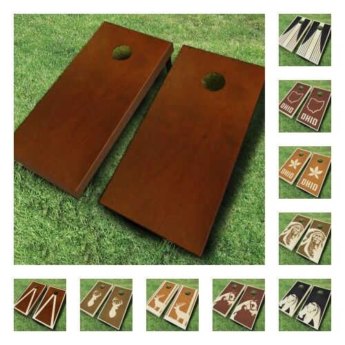 Carrying Bag Black//Red Best Choice Products 4x2ft Portable Full Size Solid Wood Cornhole Game Set w// 8 Bean Bags
