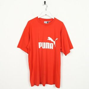 Vintage-PUMA-Big-Spell-Out-Logo-T-Shirt-Tee-Red-XL
