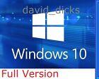 Microsoft Windows 10 Professional 64-bit 32 /PC/Laptop /Genuine Full Pro