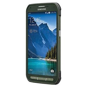 Mint-9-10-Samsung-S5-Active-SM-G870A-16GB-Green-GSM-Unlocked-AT-amp-T-Shadow-LCD