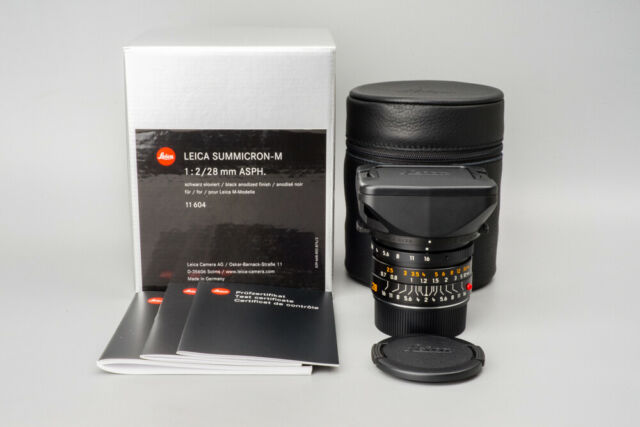 *MINT* Leica Summicron-M 28mm f/2 F2 ASPH. E46 Lens, 11604, Black - 6 BIT Coded