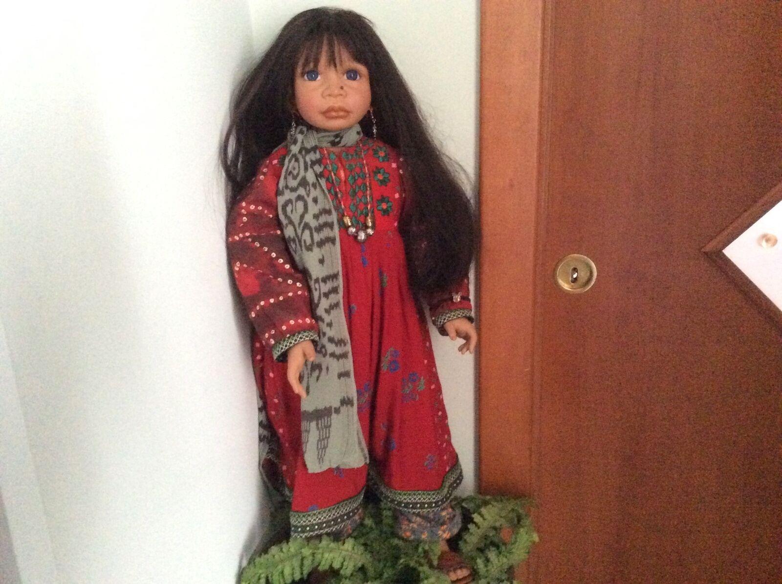 Bambola Dell'artista Angela Sutter Vintage Doll bellissima collezione