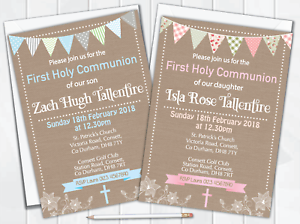 X10 Personalised First Holy Communion Invitations Boys Or Girls