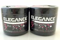2 Pc Sada Pack Elegance Triple Action Hair Styling Gel Extra Strong Hold Pink
