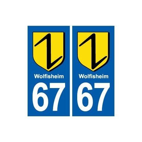 67 Wolfisheim  blason autocollant plaque stickers ville droits