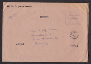Falkland-Islands-1991-On-Her-Majest-039-s-Service-Cover-to-Germany