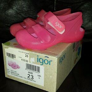 USA Size 8.5-2  Available Toddler Girls IGOR NWT Bondi Sandal Pink Size 25