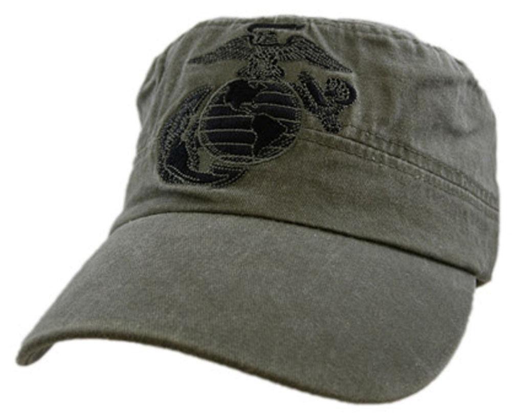New Usmc U S Marine Corps Flat Top Baseball Cap Hat Od