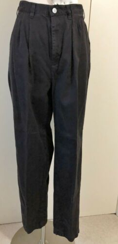 CALVIN KLEIN JEANS BLACK PLEATED COTTON PANTS SIZE