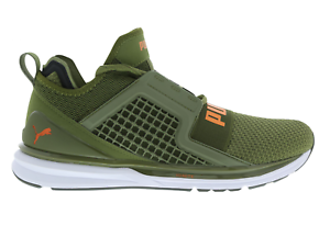 Mens PUMA IGNITE Weave Limitless Weave IGNITE Green Trainers 190503 08 17eff4