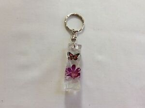 KEY-RING-RECTANGLE-PENCLE-HAND-MADE-WITH-REAL-ORCHID