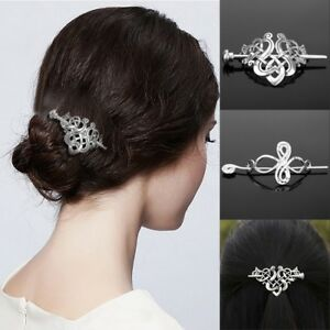 Retro-Celtic-Knots-Clips-Hairpin-Charm-Alloy-Hair-Stick-Womens-Hair-Accessories