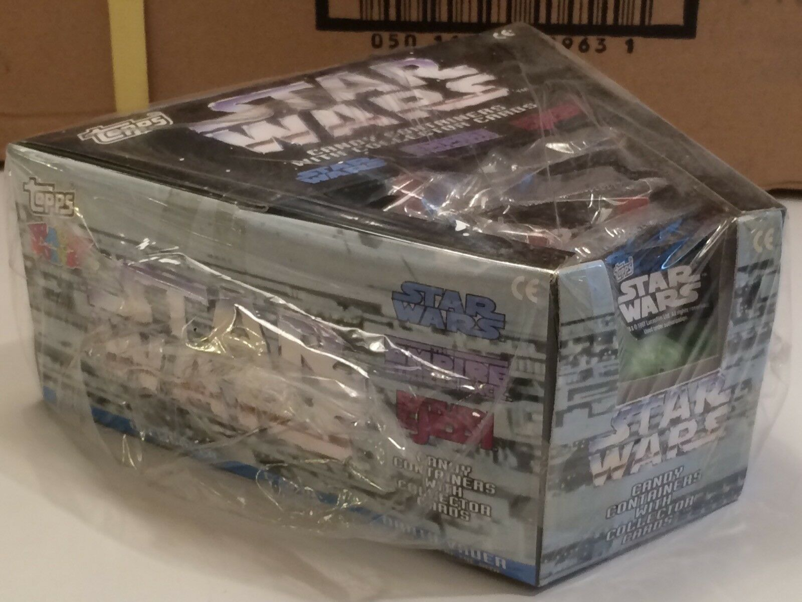 STAR WARS CANDY CONTAINER WITH COLLECTOR CARS UNGEÖFFNETER UNGEÖFFNETER UNGEÖFFNETER KARTON 24X12 FIGUREN dd9b01