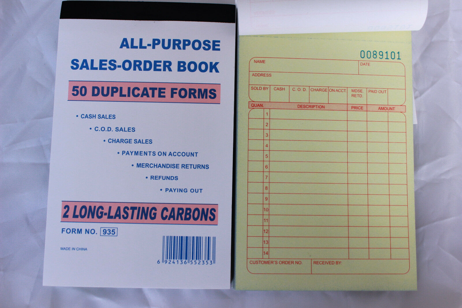 10 Pack Sales Order Books Receipt Set Wholesale 50 Duplicate Carbonless  Forms