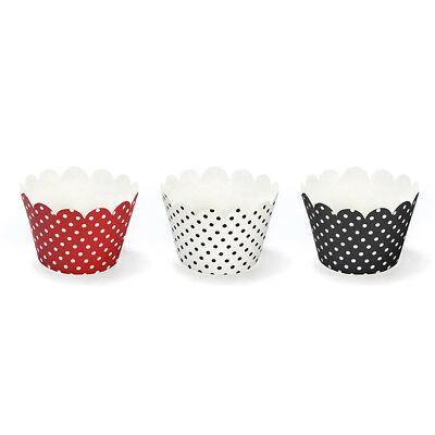 Wilton Muffinförmchen mit Punkten 2x 75 Stück türkis Cupcake Förmchen Dots