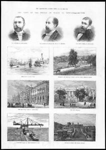 1884-Antique-Print-NEWCASTLE-UPON-TYNE-Visit-Prince-Wales-River-Tyne-77