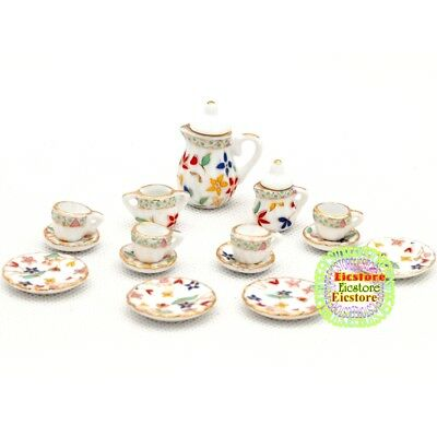 Dollhouse Miniatures White Plastic Cup of Lemon Tea and Round Saucer