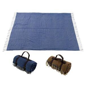 Picknick Strand Decke Kunst Wolle Matte Wasserdicht Rückseite Mit PU Griff Außen