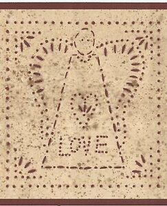 Image Is Loading Country Folk Art Wallpaper Border Stencil Angel Love