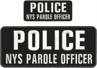 Police Parole Agent embroidery patch 4x10 and 2x5 hook on back od green