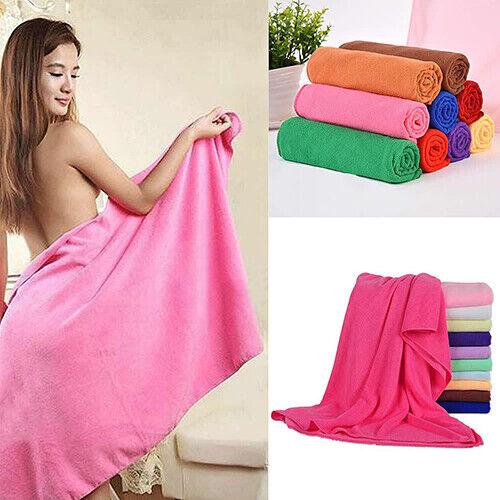 Soft Microfiber Body Wrap Towel Sarong Elasticated Beach Bath Pool SPA Shower