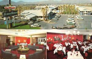 TUCSON-AZ-Arizona-DEL-WEBB-039-S-HIWAYHOUSE-Dining-Round-Lounge-ROADSIDE-Postcard